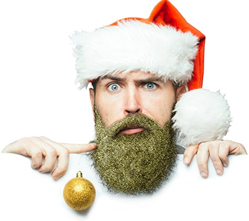 [Glitterbeard by Beardaments- Beard Glitter with beard oil and brush - 4 Colors Available (Gold)] (Glitter Beard Costume)