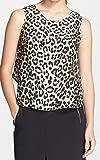 Rag & Bone Silk-Blend Fleet Leopard Print Cami Tank Top Shirt Size M (M, Leopard)