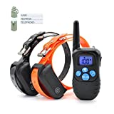 EtekStorm Electric Dog Training Collar With Remote Rechargeable & Waterproof LCD Screen 330 Yard Beep/Vibration/Shock For Small, Medium, Large Pets&Dogs(For 2 Dogs)