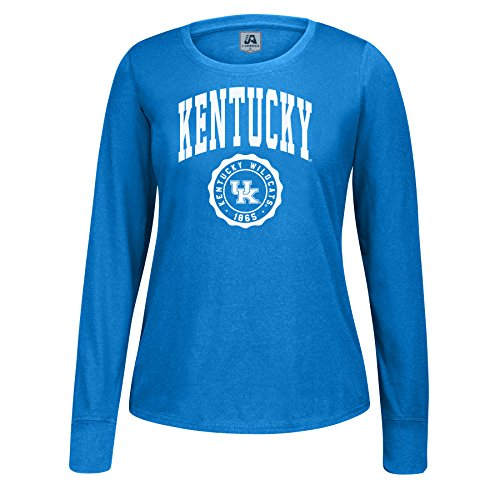 cky Wildcats Female Athletic Seal Long Sleeve Essential Tee, Royal, XX-Large ()