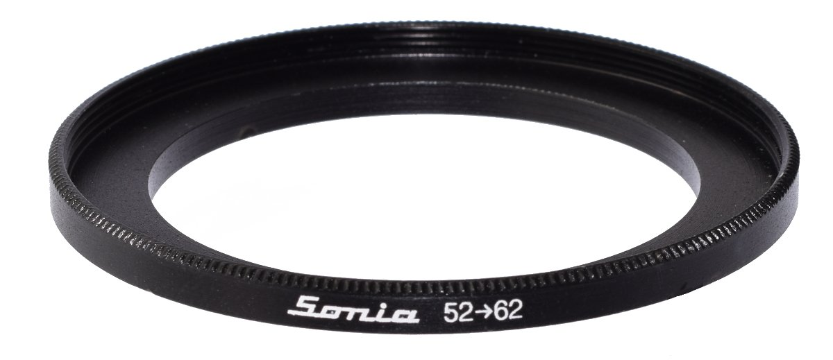 52mm to 62mm Step up Ring Filter Stepping Adapter Sonia 52 62