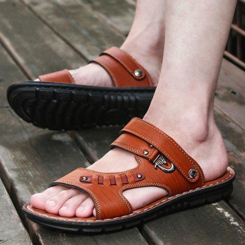 brunfoncé67806 L'été coréenportablechaussons chaussuresdeplageoccasionnelsetd'antidérapage hommessandales 39 Zhangjia wXdaqxX