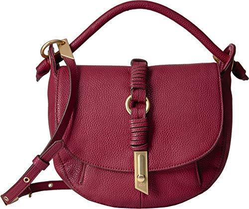 Foley + Corinna Victoria Saddle Bag, berry sangria