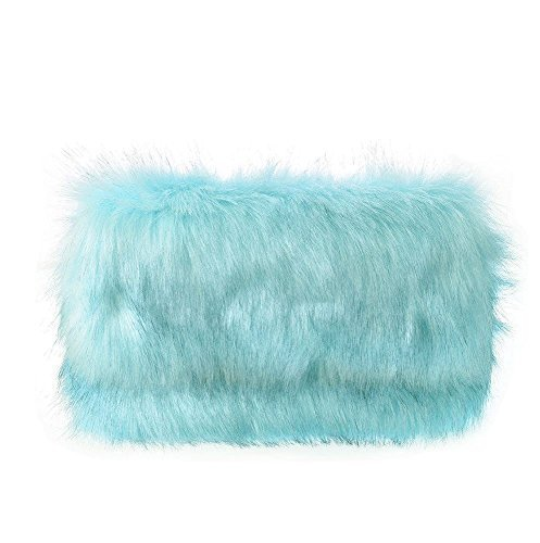ZIP Mint CLUTCH CHAIN FUR FLAP FAUX FASHION STRAP NIGHTS HANDBAG OUT NEW WOMEN'S PARTY IOqwR6w