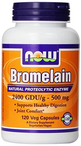 Now Foods Bromelain 2400Gdu/500mg, 120 Vcaps (Pack of 2)