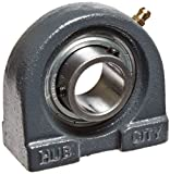 Hub City TPB250URX1 Tapped Base Pillow Block Mounted Bearing, Normal Duty, Relube, Setscrew Locking Collar, Narrow Inner Race, Cast Iron Housing, 1'' Bore, 1.063'' Length Through Bore, 2'' Mounting Hole Spacing, 1.437'' Base To Height