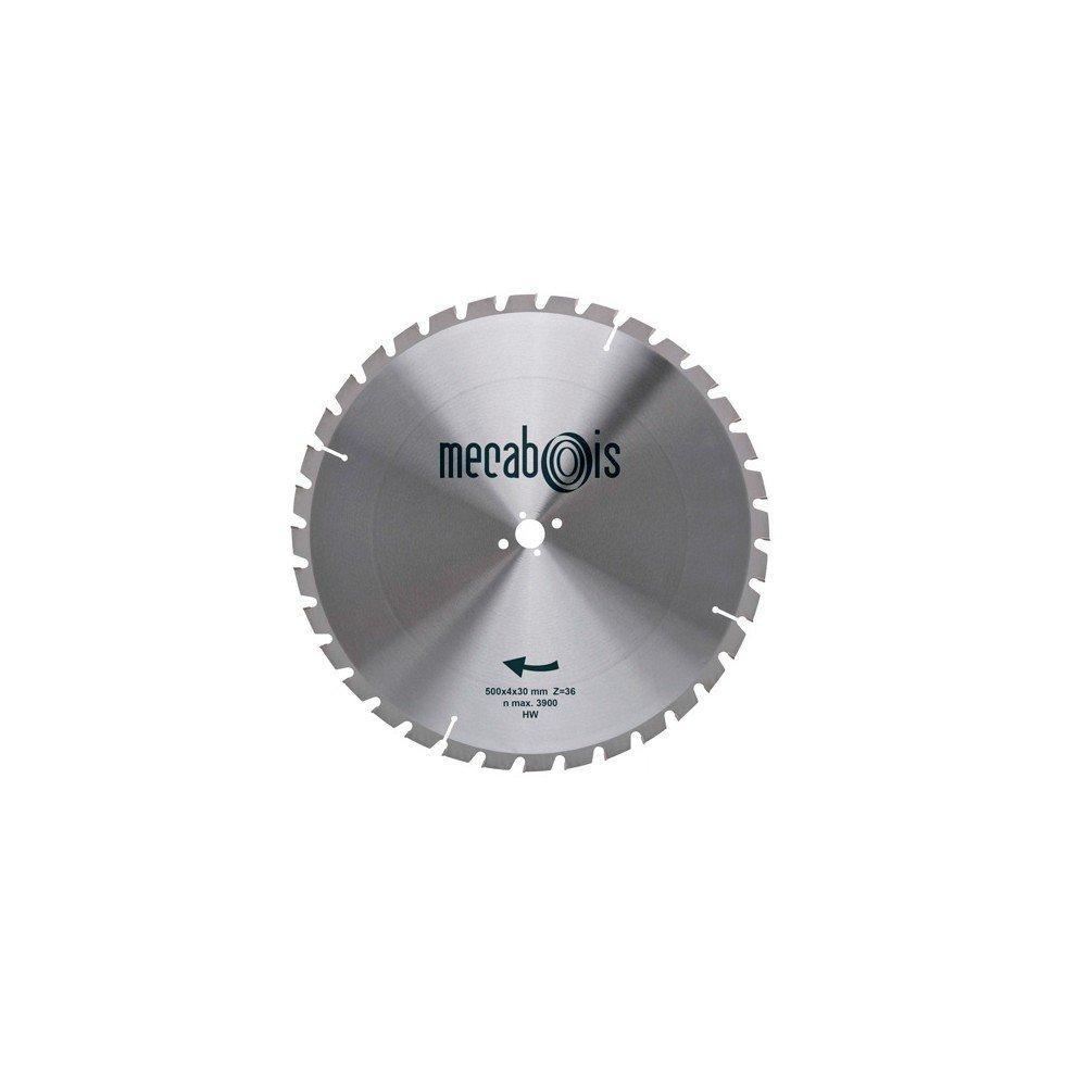 Sidamo–Hartmetallbestücktes Sägeblatt Baustelle D. 500x 4x 30mm Z 36trapéz.–Holz/Holz mit Nieten/Beton céllulaire–280206