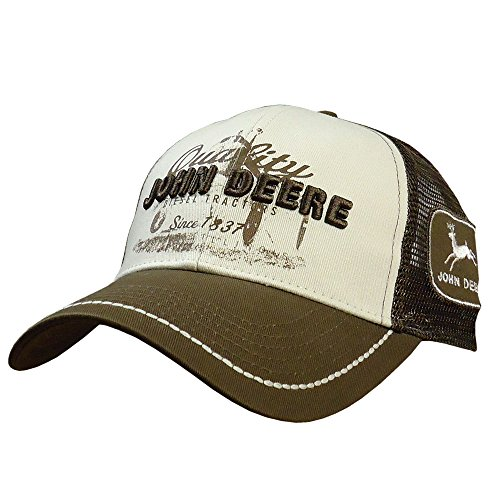 John Deere Quality Tractor Logo Baseball Hat - One-Size - Men's - Brown, One Size