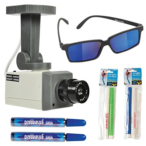 ArtCreativity Spy Gear with Surveillance Camera Toy, Spy Glasses, 2 Secret Marker Sets and 2 Disappearing Ink (Top 50 Movies To Watch On Halloween)