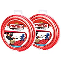 Mayka Toy Block Tape - 2 Stud - Red - 6 Feet - 2 Pack...