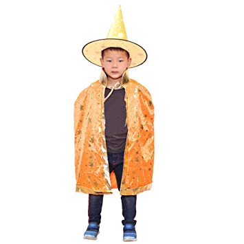 5313de0d4e35a ハロウィン衣装 コスプレ仮装 マント キッズ 子供 Kukoyo とんがり帽子 2点セット ドラキュラ キャラクター 変身