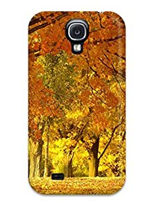 New Style AnnDavidson Yellow And Gold Carpet Premium Tpu Cover Case For Galaxy S4