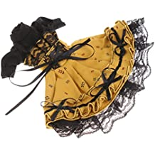 MonkeyJack 60cm BJD Clothing Turtleneck Puff Sleeve Beam Waist Prom Lace Dress Frock Skirt Hair Band for 1/6 BJD SD BB Girl Dollfie Dolls