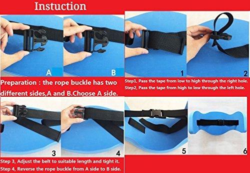 VERISA Aqua Joqqing Belt for Aquatic Aerobic Low Impact Exercises - Blue Foam Swim Flotation Belt 1PC