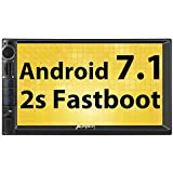 Pumpkin Android 7.1 Car Stereo Double Din Universal Navigation, WiFi, Support Fastboot, Backup Camera, Android Auto, USB SD, 7 inch Touchscreen