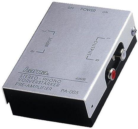 Hama Stereo Phono Vorverstärker Pa 005 Silber Elektronik
