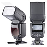 Neewer NW690/MK950II ETTL LCD Screen Display Camera Slave Flash Speedlite for Canon EOS 700D/T5i 650D/T4i 600D/T3i 1100D/T3 550D/T2i 500D/T1i 100D/SL1 400D/XTi 450D/XSi 300D/Digital Rebel 20D 30D 60D 5D Mark III 5D Mark II and All Other Canon DSLR Cameras