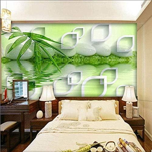 Hxcok 最新の高品質の竹の壁紙クラシックモダンなシンプルなリビングルームの夜の研究室内装飾壁画3D-150x120CM