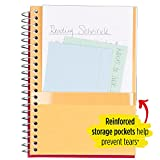 """Five Star Spiral Notebook, 1 Subject, College Ruled Paper, 100 Sheets, 7"""" x 5"""", Personal Size, Color Selected For You"""