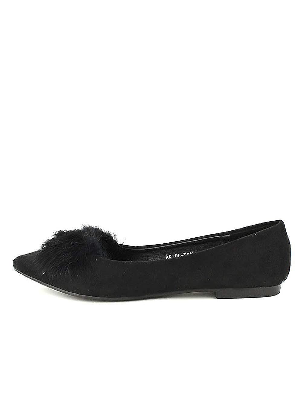 Cendriyon, 19183 Ballerines Noires MULANKA Fourrure Chaussures Femme Chaussures MULANKA Noir 413181f - deadsea.space