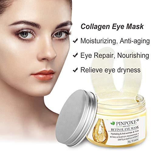 51UWCxSLSWL - Under Eye Pads, Eye Treatment Masks, Anti-Aging Mask, Eye Patches, Natural Eye Mask with Retinol, Anti Aging, Dark Circles and Puffiness, Anti Wrinkle, 50 PCS