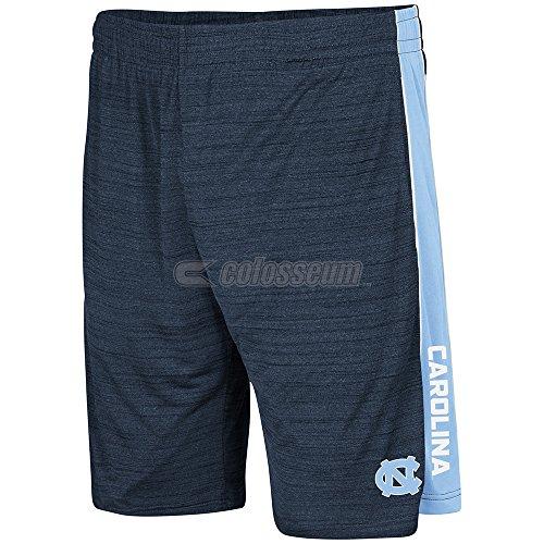 UNC Tar Heels Mens Navy Colosseum Grounder Polyester Shorts (Unc Basketball Shorts)