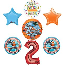 Planes Fire and Rescue 2nd Birthday Party Supplies and Balloon Decoration Bouquet