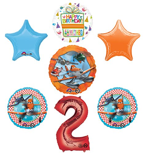 Planes Fire and Rescue 2nd Birthday Party Supplies and Balloon Decoration Bouquet -