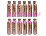 Panchal Creation 12 Pcs Flask Copper Storage 800 Ml Bottle Traditional Ayurvedic Health Benefits