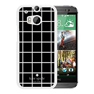 Durable and Custom HTC ONE M8 Kate Spade New York Phone Case Design with Kate Spade 5 White Case