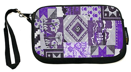 Rikki Knight Purple Patchwork Quilt - Neoprene Clutch Wristlet Coin Purse with Safety Closure - Ideal case for Cosmetics Case, Camera Case, Cell Phones, Passport, etc..