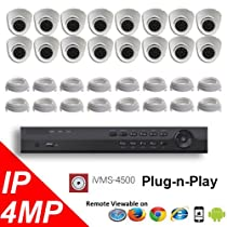 16CH NVR PoE 4K OEM Hikvision LTS Security Surveillance 4MP IP Camera Kit Package