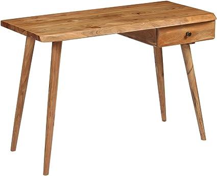 cm vidaXL Massif Bois 110x50x76 Table d'Acacia Écrire à P80OkXNnwZ