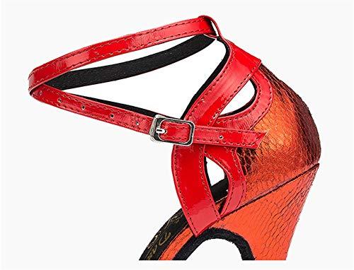 Pour À Latine Cuir Hccy Talons Dames Chaussures En Rouge Adultes Hauts 6cm De Danse Rwwqvxp4U