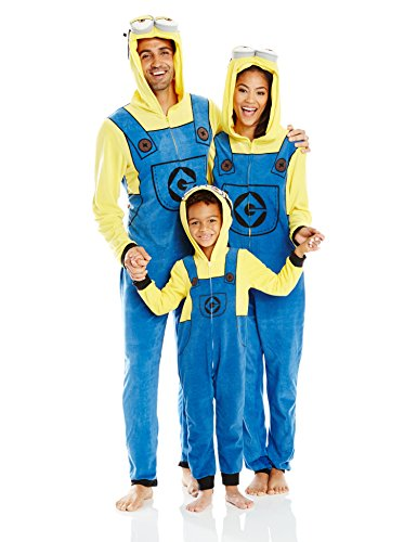 Despicable Me Little Boys' Toddler Minion Family Cosplay Union Suit, Yellow, 2T]()