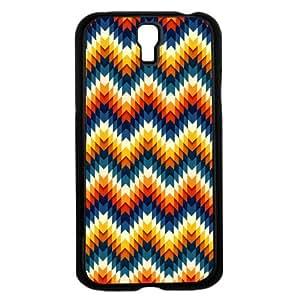 Orange and Blue Vintage Chevron Hard Snap on Phone Case (Galaxy s4 IV)