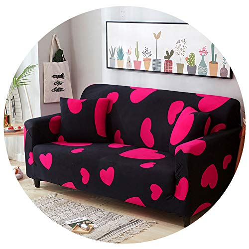 - Stretch Sofa Cover All-Inclusive Elastic Seat Couch Cover for Living Room Furniture Slipcovers,Color 7,4-Seater 235-300Cm