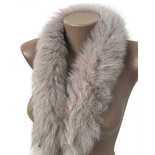 Scarf Fur edge fringe on the hood or collar fur arctic fox from RizhikOva