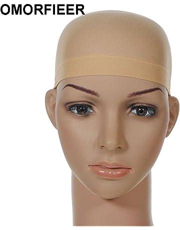98b07fba58216 Unisex Stocking Wig Cap Snood Mesh Natural Nude Beige Wig Caps (2pcs)