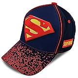 DC Comics Little Boys Assorted Superhero Designs 3D Pop Cotton Baseball Cap, Age 2-7 (Little Boys - Age 4-7 - 53CM, Superman - Black/Red/Navy)
