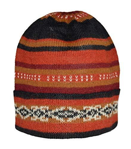 Wool Alpaca Hat Unisex - Invisible World Women's 100% Alpaca Wool Hat Knit Unisex Beanie Winter Potosi Medium