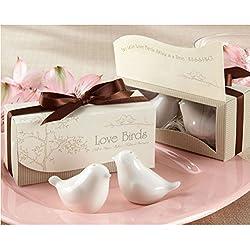 Hot Selling,20 Pcslot=10Setslot,Newest Wedding Favors, Love Bird Salt Pepper Shaker Wedding Gift Ceramic Gift