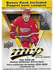 MVP 2019 2020 Upper Deck NHL Hockey Series Unopened Blaster Box of 21 Packs with Chance for Rookies Plus #1 Draft Picks Cards and Blaster Exclusive Gold Scripts