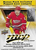 2019 2020 Upper Deck MVP NHL Hockey Series Unopened Blaster Box of 21 Packs with Chance for Rookies Plus #1 Draft Picks Cards and Blaster Exclusive Gold Scripts