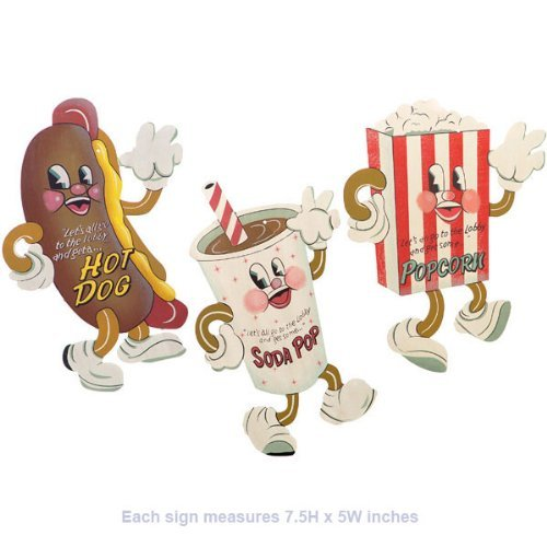 - Dancing Snacks- Set of 3 Tin Sign 7 x 5in