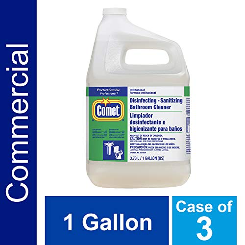 Hospital Grade Disinfecting Bathroom Sanitizer by Comet Professional, Multi-Purpose Liquid Cleaner Wipes up Pathogens, Ready to Use Bulk Refill for Commercial Use, 1 Gal. (Case of -