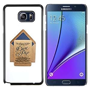 EJOOY---Cubierta de la caja de protección para la piel dura ** Samsung Galaxy Note 5 5th N9200 ** --una carta