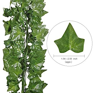 Hogado 84 Feet Artificial Hanging Plants Fake Vines Silk Ivy Leaves Greenery Garland for Wedding Kitchen Wall Outdoor Party Festival Decor 7