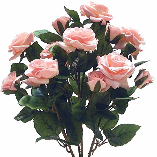 - Beautiful and Life Like Artificial Assorted Rose Bouquet Perfect for Centerpieces