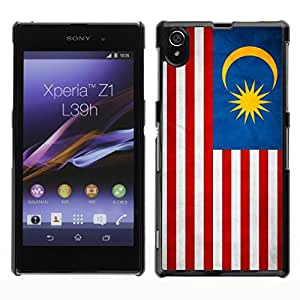 Paccase / SLIM PC / Aliminium Casa Carcasa Funda Case Cover - National Flag Nation Country Malaysia - Sony Xperia Z1 L39 C6902 C6903 C6906 C6916 C6943